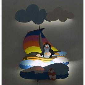 Dětská LED lampička - Krtek na lodi