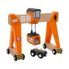 Vláčkodráhy Brio - Konstrukční jeřáb