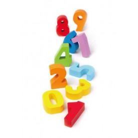 HAPE dřevěné hračky - dřevěné barevné čísla