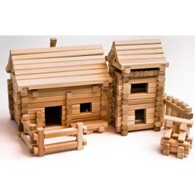 Dřevěná stavebnice - Horská vesnička
