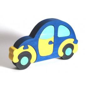 FAUNA Dřevěné Puzzle autíčko Brouk