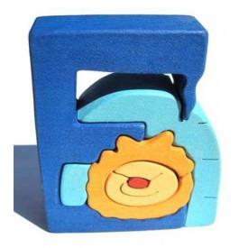Dřevěné vkládací puzzle z masivu - Abeceda písmeno E eskymák