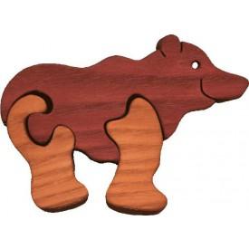 Dřevěné vkládací puzzle z masivu- vkládačka - Malý medvěd