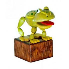 Dřevěné hračky -  dekorace - Žába