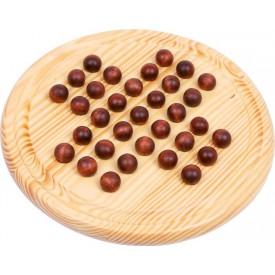 Dřevěný solitaire