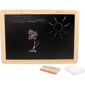 Dřevěné hračky - Tabule s křídou a houbičkou