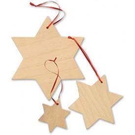 Dekorace dřevěné hvězdy 15 ks