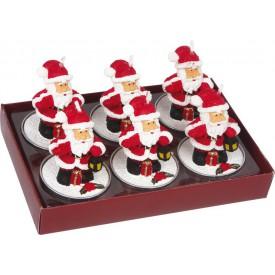 Displej svíčky Santa Claus - set 6
