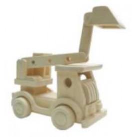 Dřevěné hračky - Přírodní dřevěné auto - Bagr