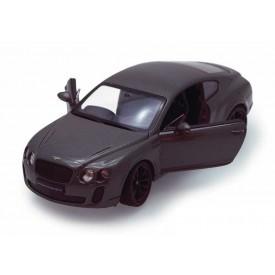 Welly - Bentley Continental Supersport 1:24 šedočerný