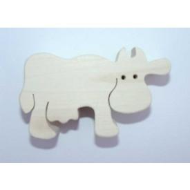 Dřevěná hračka - Dřevěné zvířátko - kráva