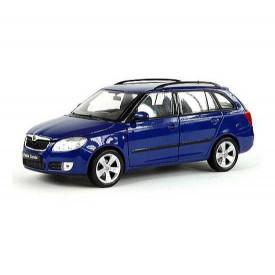 Welly - Škoda Fabia Combi II 1:24 modrá