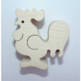 Dřevěná hračka - Dřevěné zvířátko - kohout