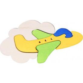 Dřevěné vkládací puzzle z masivu- vkládačka - Malé letadlo