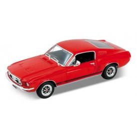 Welly - 1967 Ford  Mustang GT 1:24 červený