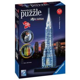 3D Puzzle Chrysler building (Noční edice) 216 dílků