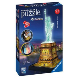3D Puzzle Socha Svobody 3D (Noční edice) 108 dílků