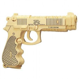 Dřevěné skládačky 3D puzzle - Beretta M92F P112