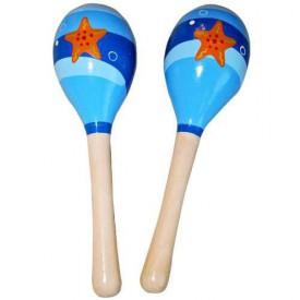 Dřevěné hračky - Dětské hudební nástroje -Rumbakoule moře