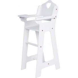 Dřevěná židlička pro panenky bílá velká