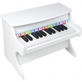 Dřevěná muzikální hračka - Klavír bílý
