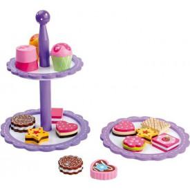 Dřevěné hračky - Etažér keksy a pralinky