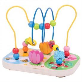 Bigjigs Toys dřevěný motorický labyrint louka