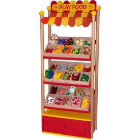 Bigjigs Toys Prodejní pult dřevěných potravin