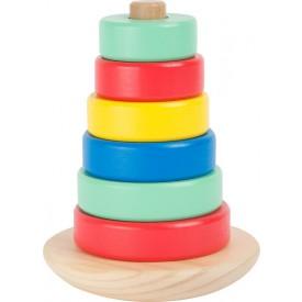 Dřevěná motorická nasazovací hra - Věž Movere