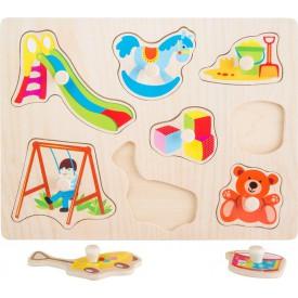 Dřevěná vkládačka - Vkládací puzzle - Dětské hry