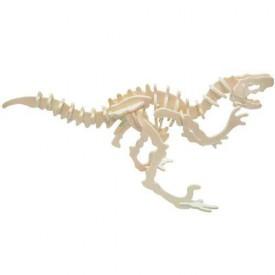 Dřevěné 3D puzzle skládačka - dinosauři Velociraptor
