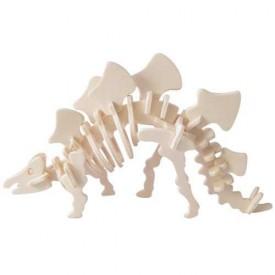 Dřevěné 3D puzzle skládačka - dinosauři Stegosaurus