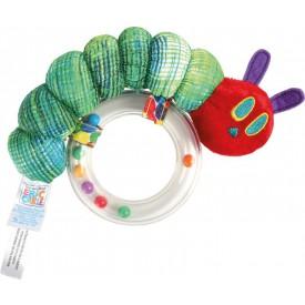 Dřevěné hračky pro nejmenší - Kousátko hladová housenka