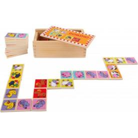 Dřevěné hračky - Domino ZOO