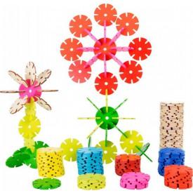 Dřevěná spojovací hra květina sada 240 ks