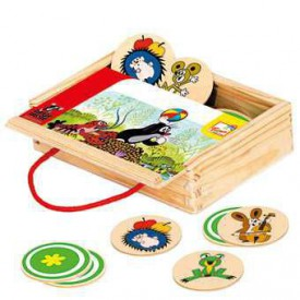 Dřevěné hračky - Pexeso v krabičce - Krtek, 24 dílů