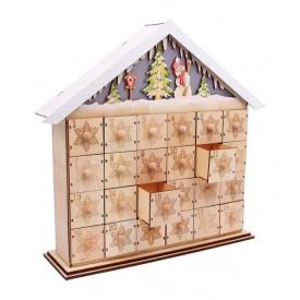 Legler Vánoční dekorace - Lampa Adventní Kalendář Sněhulák
