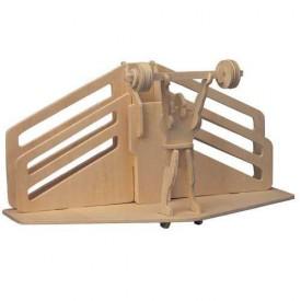 Dřevěné skládačky 3D puzzle Stojánek na tužky Vzpírání S021