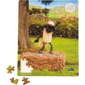 Dřevěné puzzle Ovečka Shaun tančící 100 dílků