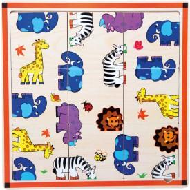 Dřevěné  puzzle Safari 9 dílků