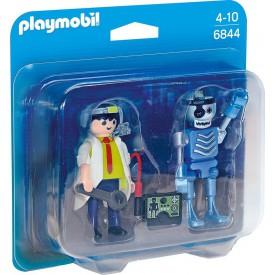 PLAYMOBIL 6844 Duo Pack Profesor a robot