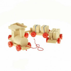 Dřevěná tahací hračka - Vlak důlní