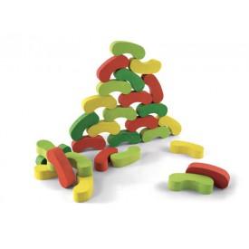 Jeujura Motorická balanční hra - Barevné fazolky 60 dílků