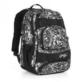 TOPGAL Studentský batoh Black HIT 894