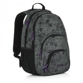 TOPGAL Studentský batoh Grey HIT 897