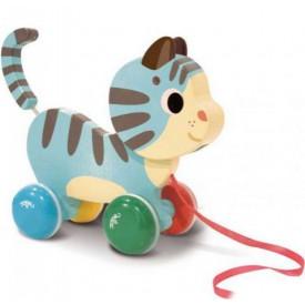 Dřevěná hračka Vilac - dřevěná tahací kočička - Poškozená krabička