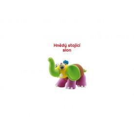 Paulinda modelovací hmota Baby Elephant - hnědý stojící slon