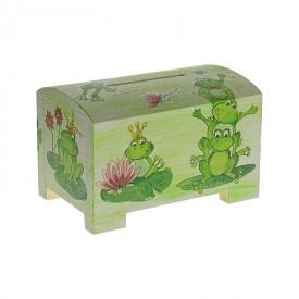 CEEDA CAVITY Dřevěná pokladnička pro děti Žabky