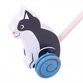 Bigjigs Toys Dřevěný jezdík Kočička