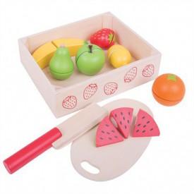 Bigjigs Toys Krájení ovoce v krabičce